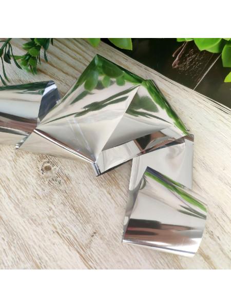 Фольга для дизайна ногтей серебро