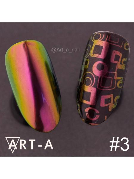 """Пигмент для дизайна ногтей """"Мятный жук"""" №3"""
