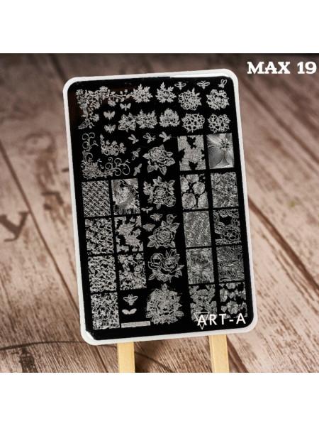 Пластина для стемпинга Art-A MAX 19-47