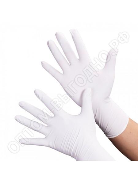 Перчатки нитриловые белые NitriMax, XS 50 пар.